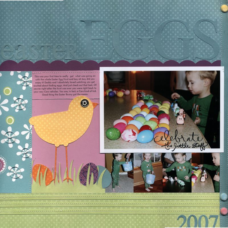 Easter eggs layout march 2009
