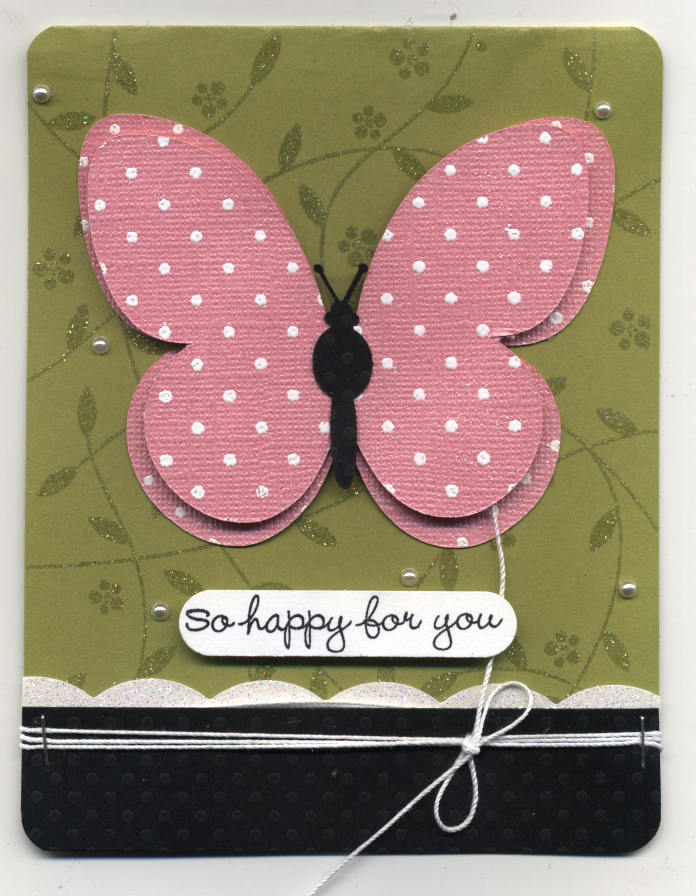 Butterfly card march 2009