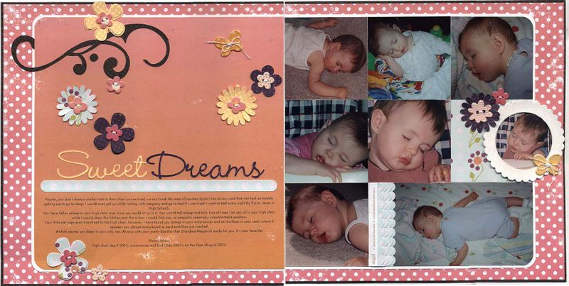 Sweet dreams layout
