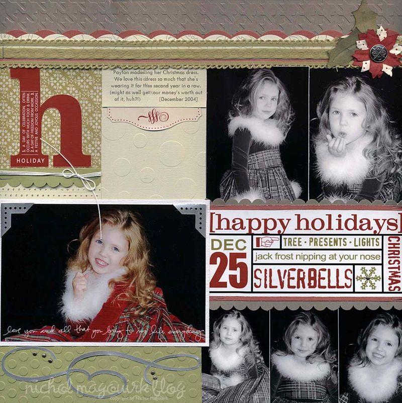 Happy holidays layout