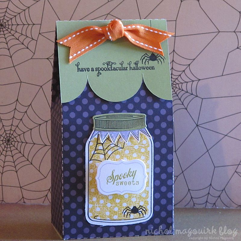 I made the gift box using my Silhouette and added the stamped and die cut images to the box topper and die cut Friendship jar.