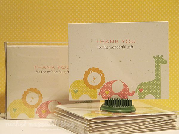 Baby Gift Card Thank You Note : Nichol spohr llc baby shower thank you cards