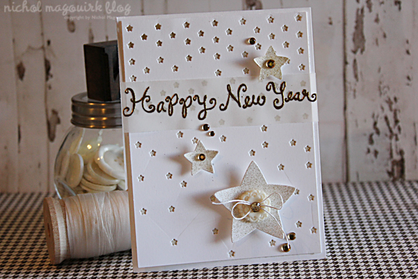 lawn fawn therm o web happy new year card nichol spohr llc