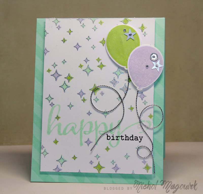 Lime Mint Lilac Happy Birthday Card Video Nichol Spohr Llc