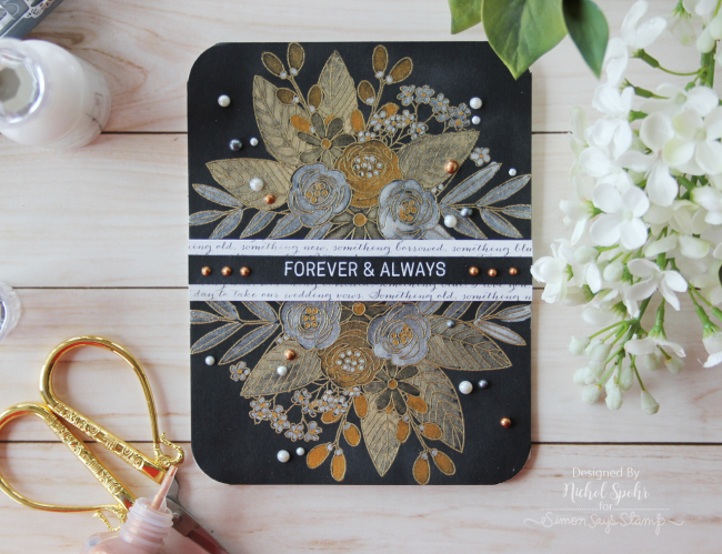 SSS_MetallicFloralsWeddingCard1