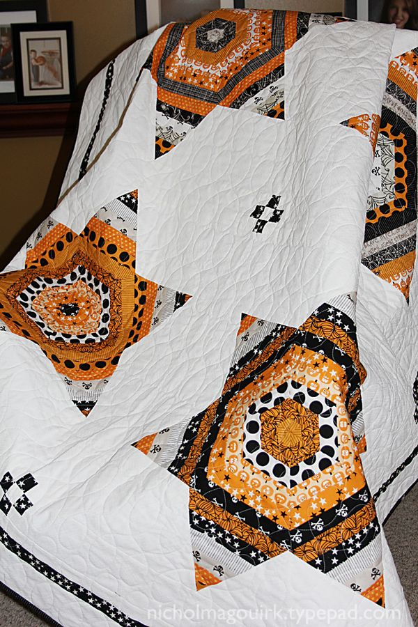 Bella Blvd Fabric Project Halloween Navajo Stars Quilt